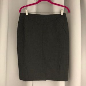 Dark grey pencil skirt. Never worn